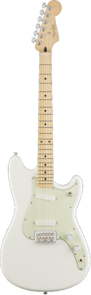 Fender Duo-Sonic, Maple Fingerboard, Arctic White